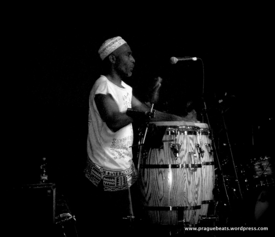 Freddy Colorado on the congas.